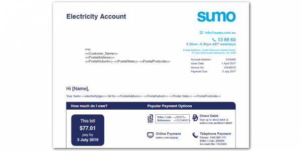 Electricity Bill Font Name
